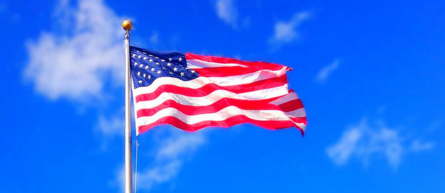 American flag, blog post by Lynette M Burrows