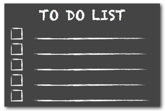 To Do List Chalkboard, post by Lynette M Burrows